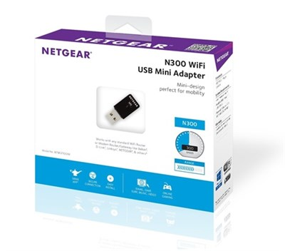 NetGear WNA3100M-100PES N300 Wireless USB Mini Adapter - 300Mbits